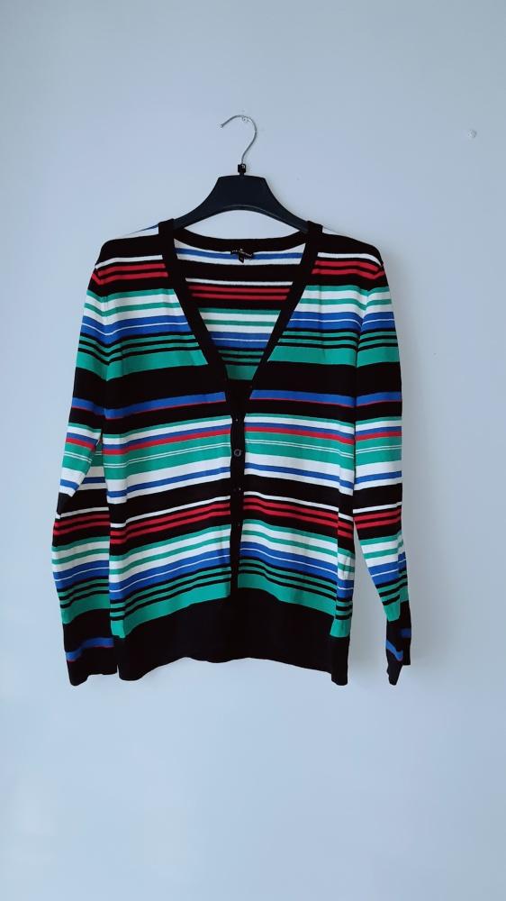 Kolorowy sweterek w paski...