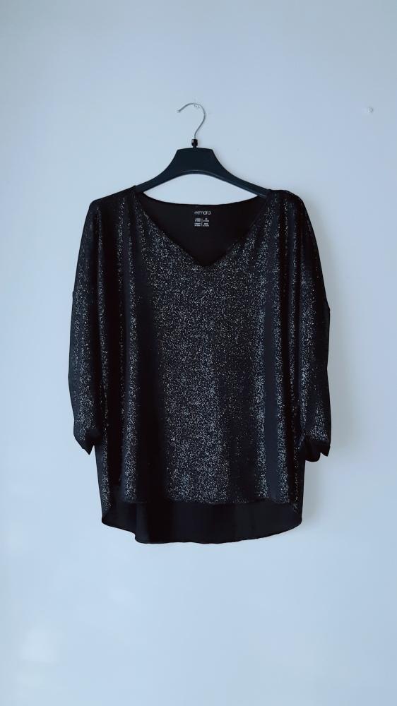 Idealna czarna świecąca bluzka...