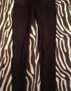 AMISU New Yorker czarne grube legginsy tregginsy na gumie...