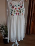 sukienka biała boho lekka delikatna...