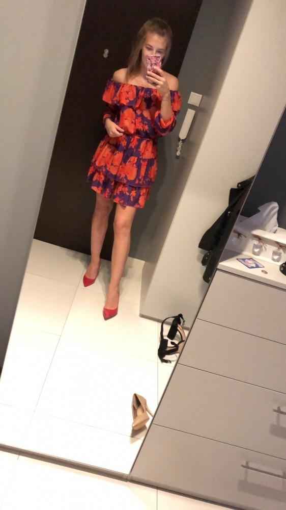 Sukienka odkryte ramiona hiszpanka uniwersalna
