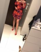 Sukienka odkryte ramiona hiszpanka uniwersalna...
