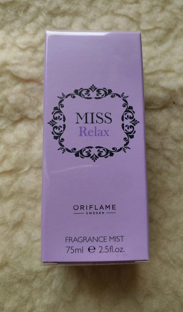 Mgiełka zapachowa Miss Relax 75ml nowa perfumy oriflame 31634...