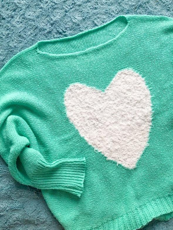 Miętowy sweter oversize wełna...