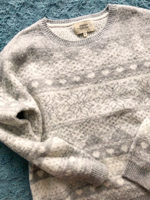 Sweter wzór norweski jesień zima bardzo miękki...