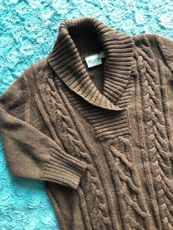 Pleciony sweter z kołnierzem bardzo ciepły wełna...