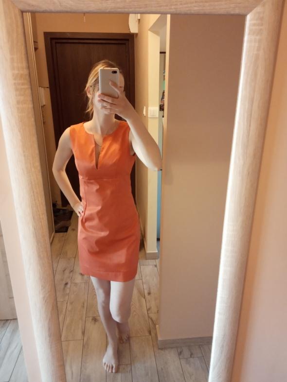 Pomarańczowa sukienka wizytowa roz S