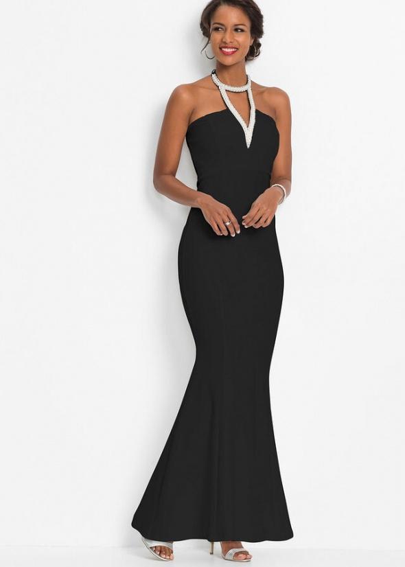 Suknie i sukienki Bodyflirt sukienka syrena perełki 44 46