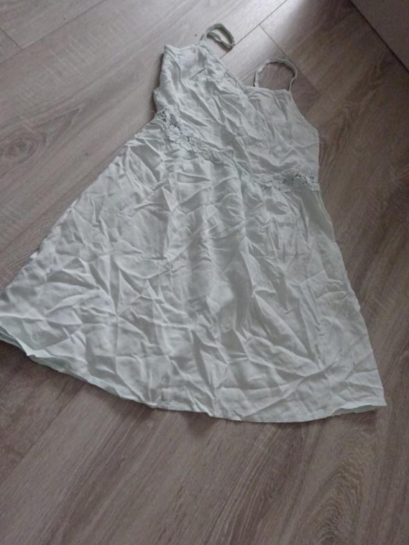 H&M sukienka letnia z koronką miętowa 38 M