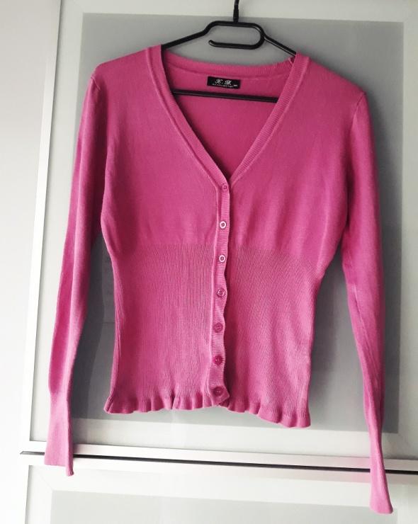 różowy sweterek z falbanką rozmiar S