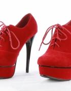 Czerwone botki rozmiar 36 szpilki platformy sandałki...