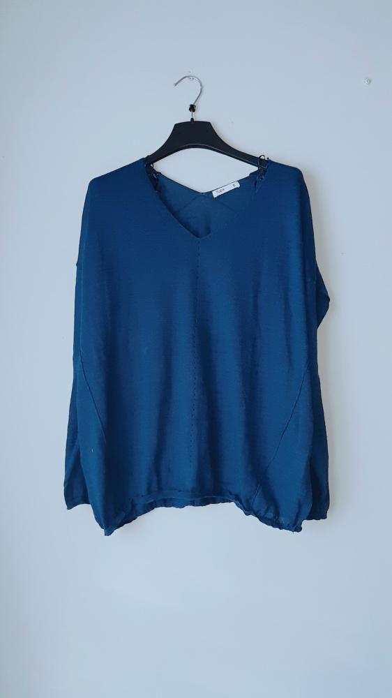 Idealny granatowy sweter...
