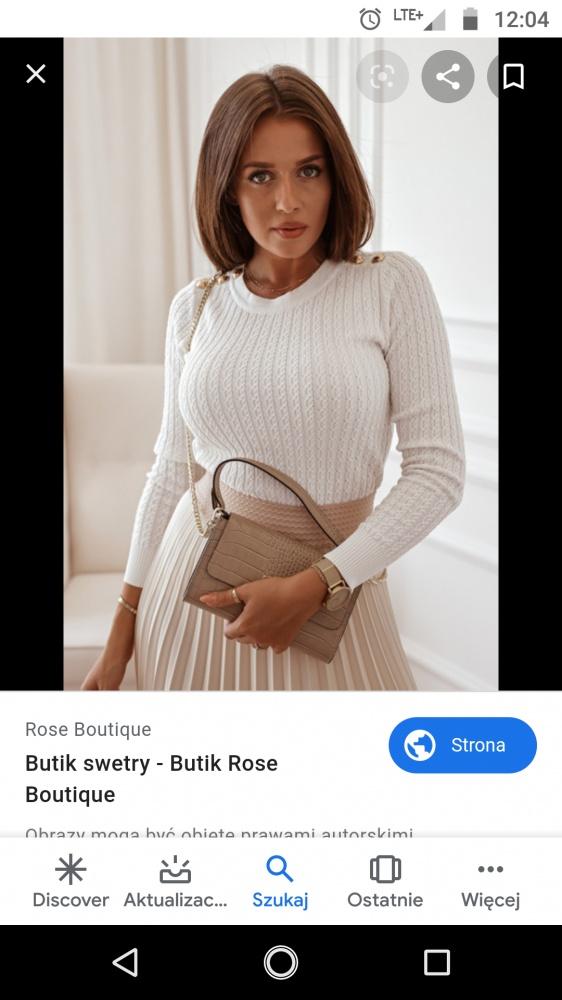 Biały sweterek z guzikami...