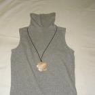 Szara bawełniana bluzka TERRANOVA