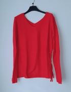 Czerwony sweterek sinsay M...