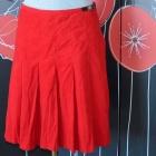 276 LAURA ASHLEY sztruksowa spódnica czerwona 38