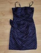 900 reserved sukienka w groszki kokarda modna elegancka 36