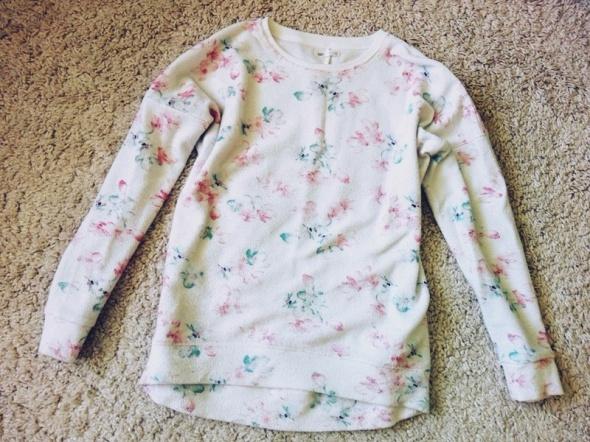bluza floral 146 158 dziewczęca kwiaty XS