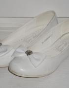 rozm 34 białe buty baleriny KOMUNIA...