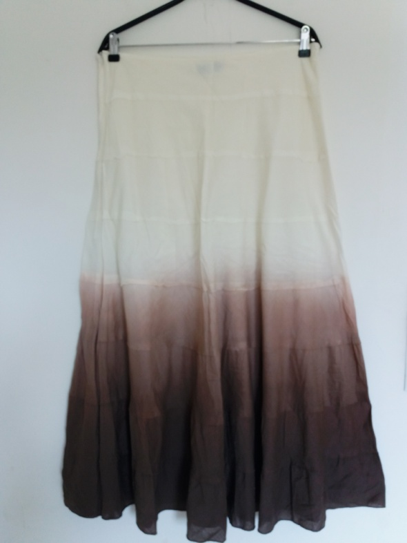 super cieniowana długa spódnica L XL...