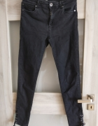czarne spodnie rurki reserved 38 40...