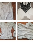 5 Bluzek koronki falbanki frędzle Reserved...