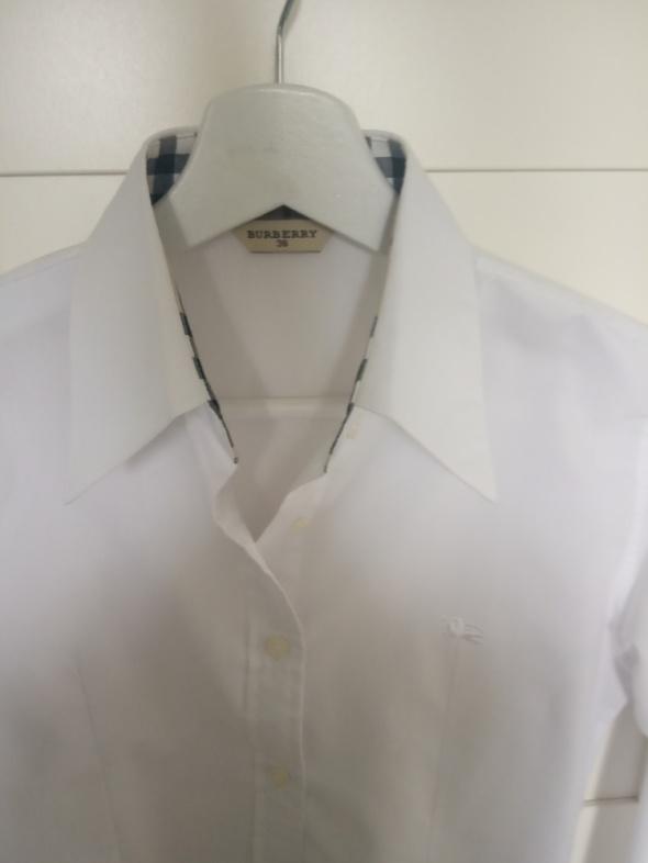 biała koszula burberry...