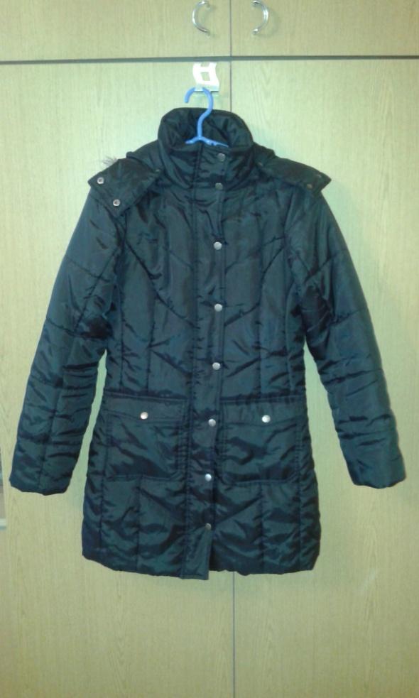 Długa czarna kurtka Esmara 36 S