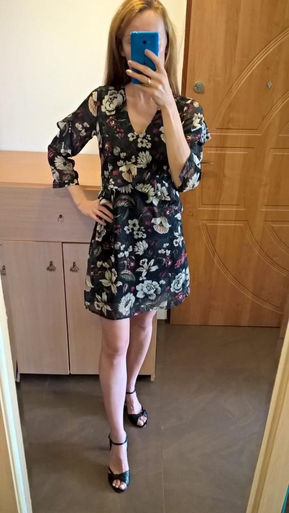Śliczna sukienka floral XS S Reserved