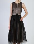 Sukienka czarna midi tiulowa S M L...