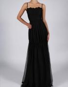 Sukienka czarna ozdobne wiązanie S M L XL...