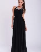 Sukienka czarna ozdobne kamienie S M L...