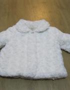 płaszcz futerko BABY GIRL 80 śmietankowe...