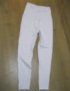 spodnie rurki tregginsy ciążowe M białe...