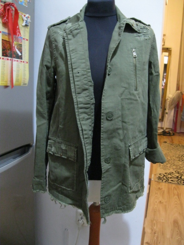 bluza kurtka katana RIVER ISLAND 36 khaki blogerska