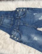Jeansowe rybaczki raz założone...
