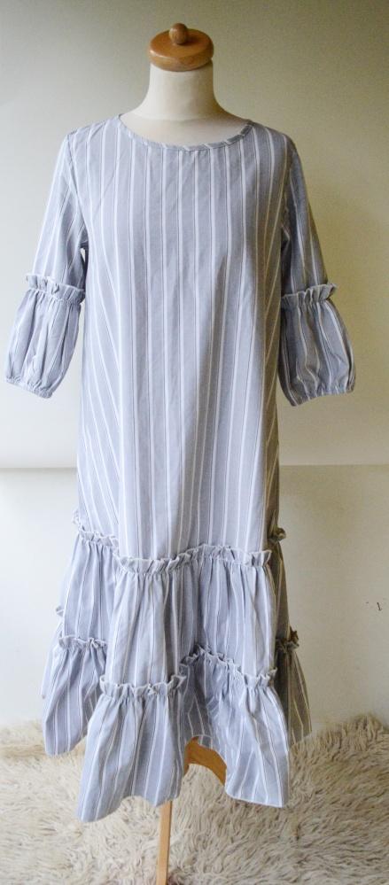 Sukienka Paski Pasy Long M 38 Shein Marynarska