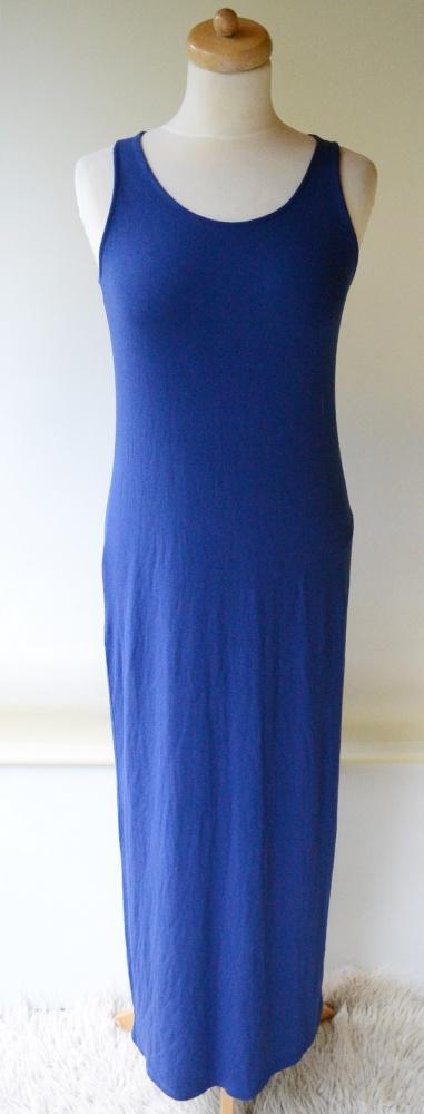 Sukienka Long Długa Maxi Niebieska Cubus S 36
