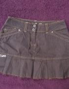Spódnica mini brązowa 36 plisowana