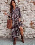 Piękna sukienka maxi panterka...