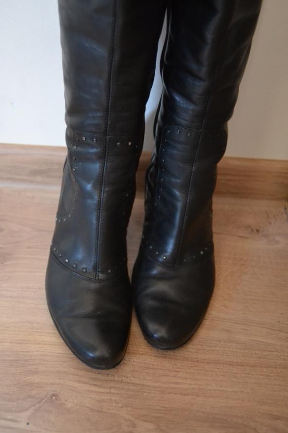gino rossi SKÓRA naturalna buty na koturnie 36