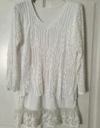 Biała bluzka 2w1 one size m l xl...