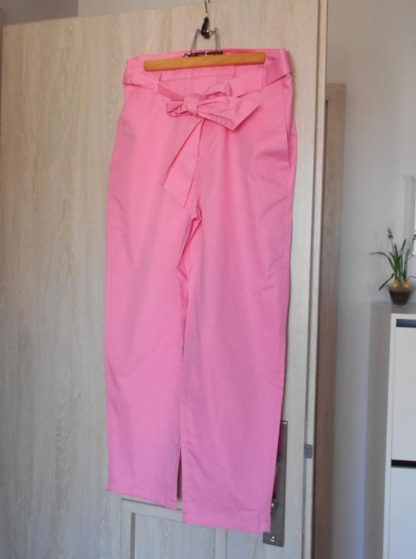 Zara nowe różowe spodnie paperbag kokarda pink...