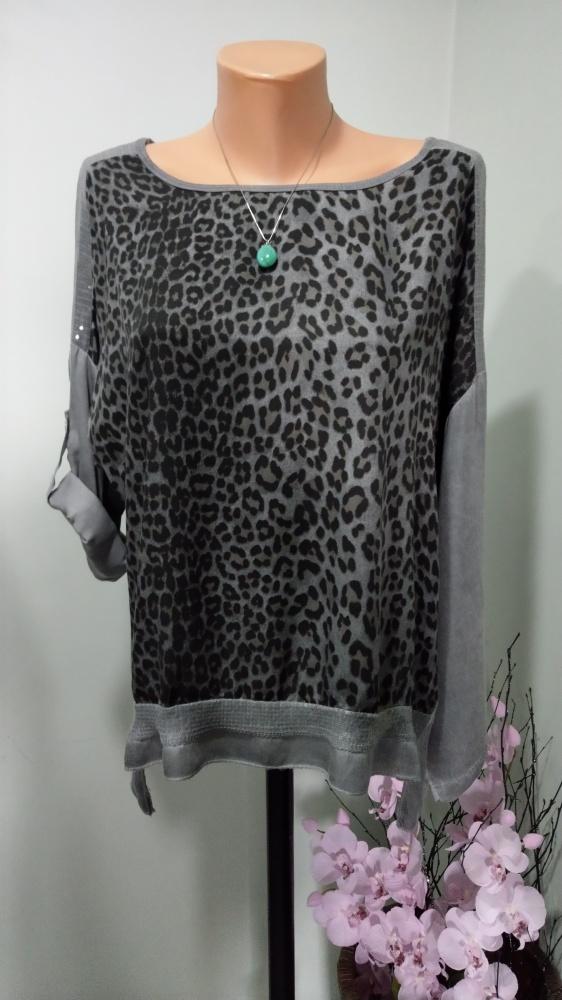 bluzka oversize cętki 44 46