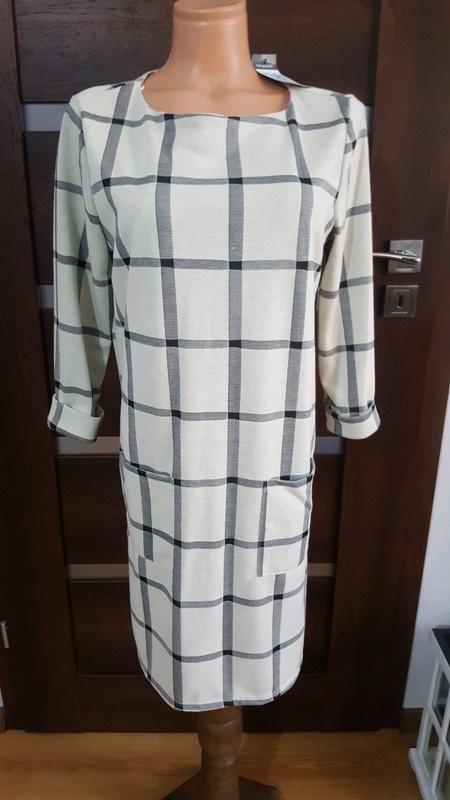 Nowa prosta sukienka krata
