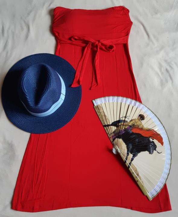 Czerwona sukienka Top Secret na lato rozm S...