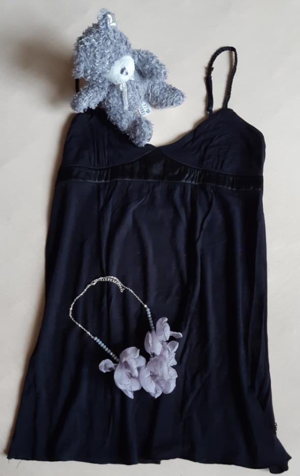 Czarna bawełniana koszulka nocna La Senza rozm S