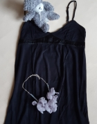 Czarna bawełniana koszulka nocna La Senza rozm S...