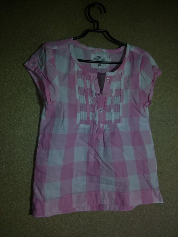 Bluzki Jasno różowa pastelowa tunika w krate 122 cm 6 7