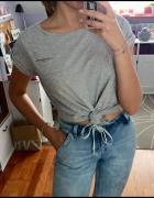 Diverse szary tshirt top kieszonka oversize M XL...